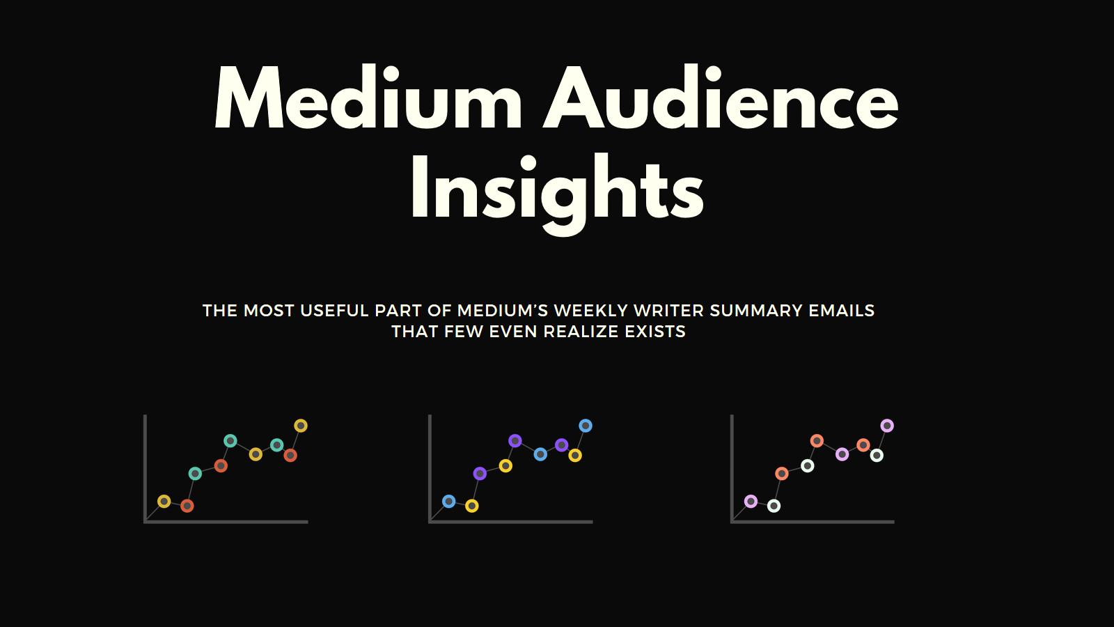 Medium Audience Insights, medium stats, medium emails, medium email data, medium email stats, medium secrets, medium hacks, medium tips, medium writing tips, medium writer tips