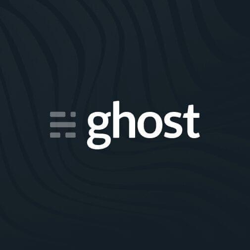 ghost logo, ghost icon, ghost black logo