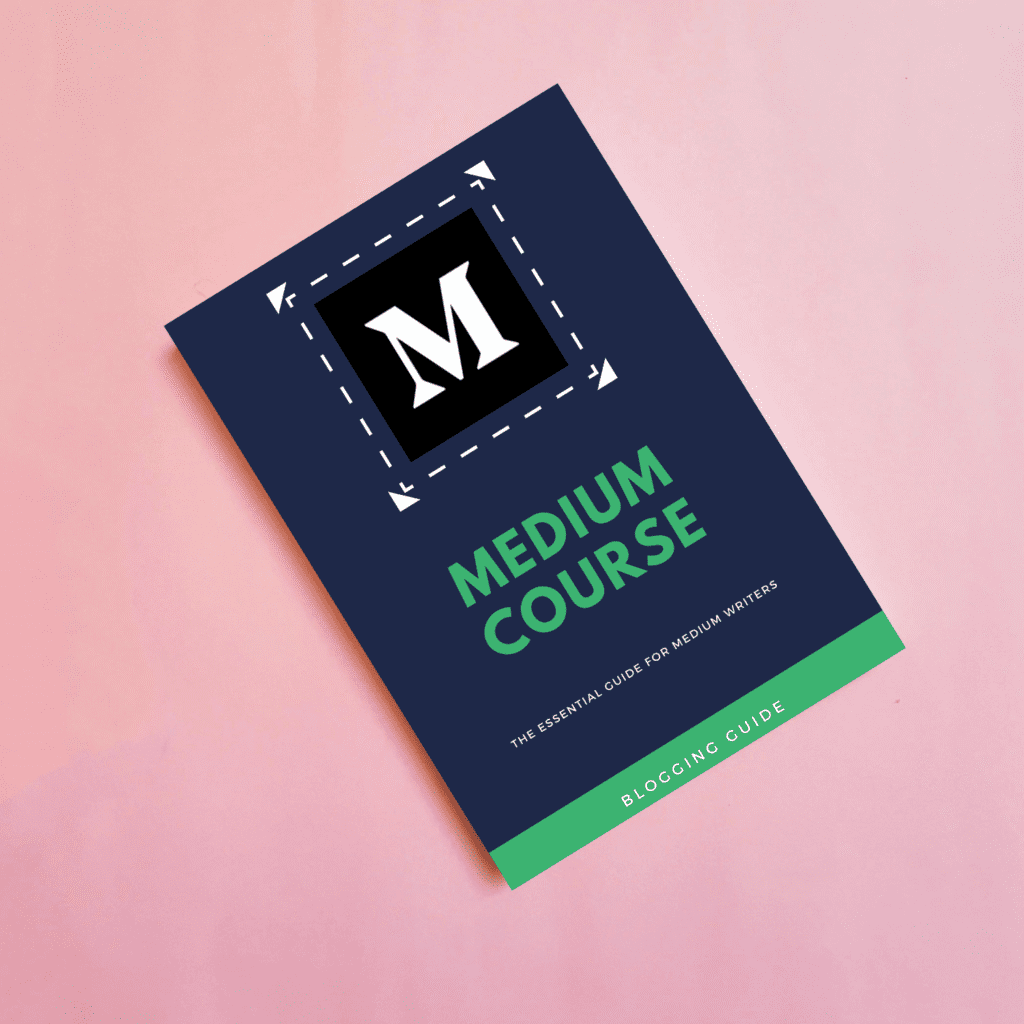 Gumroad Book Cover Templates w Background, medium course, top medium course, medium blogging course