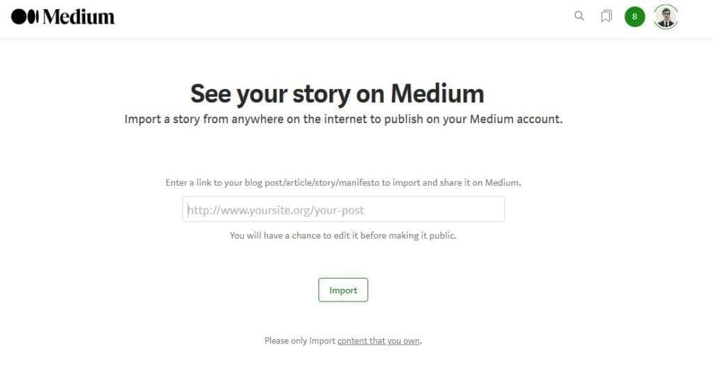 medium import article tool