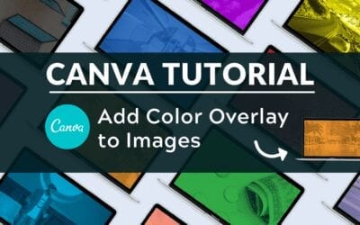 How to Add a Color Overlay to Images in Canva