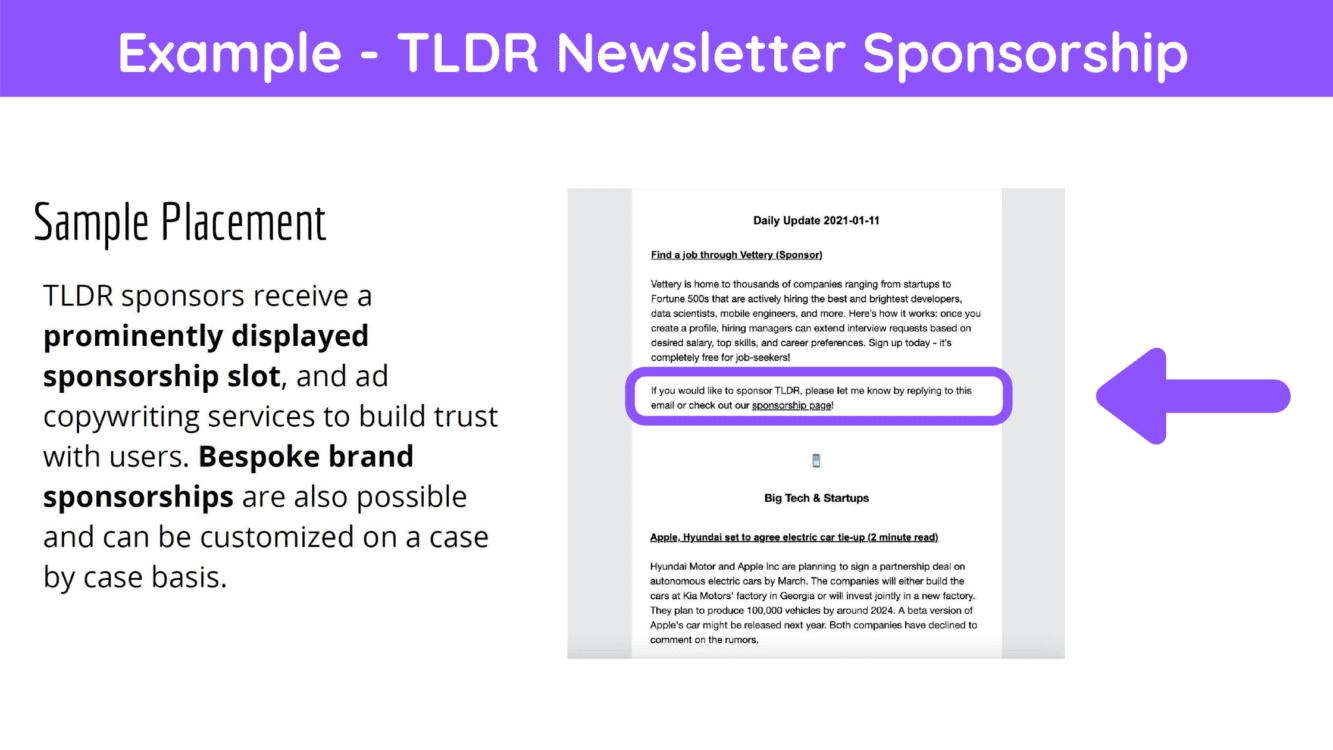 sponsored content newsletter, newsletter sponsored ad, newsletter monetization, newsletter brand sponsorship, newsletter sponsorship