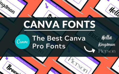 Best Fonts in Canva Pro