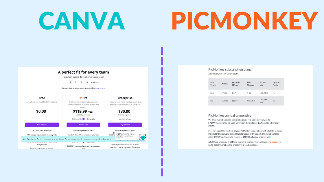 canva pro price, picmonkey price, canva pro pricing, picmonkey pricing, how much does canva pro cost, is canva pro worth it, is it worth paying for canva, is it worth paying for picmonkey