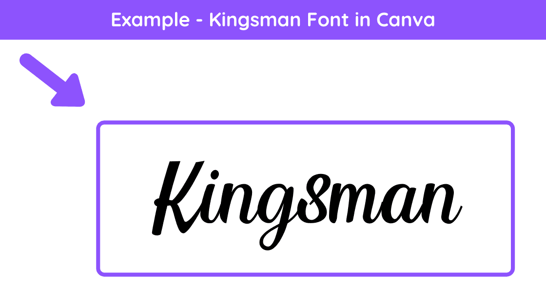 kingsman font, canva kingsman font, canva pro fonts