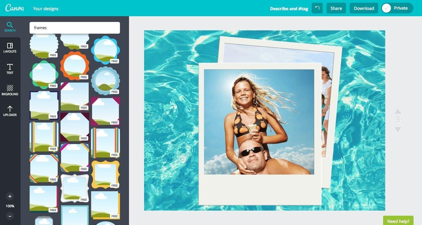 canva frame, frames in canva, canva adjust frame, position image frame in canva, canva image frame