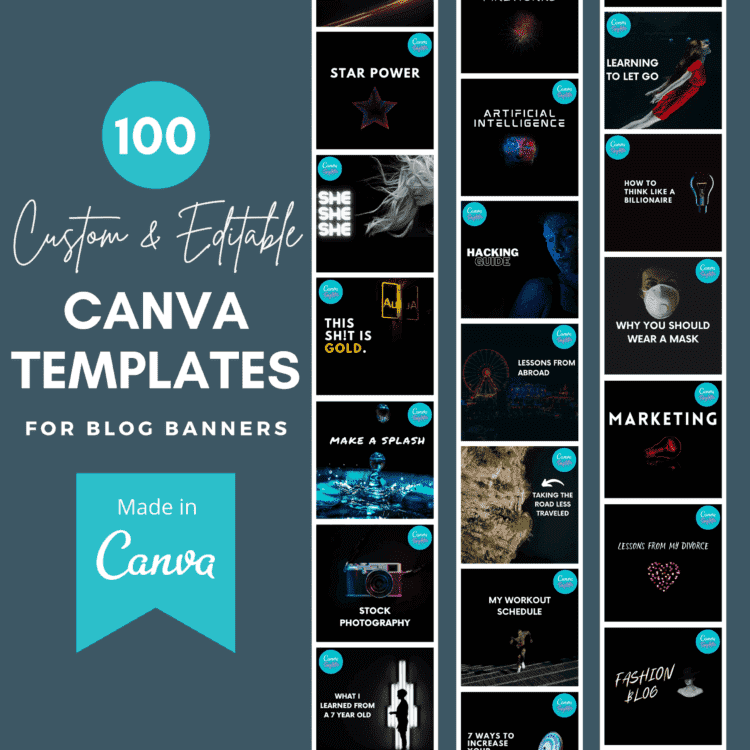 100 Blog Banner Templates Cover by Blogging Guide