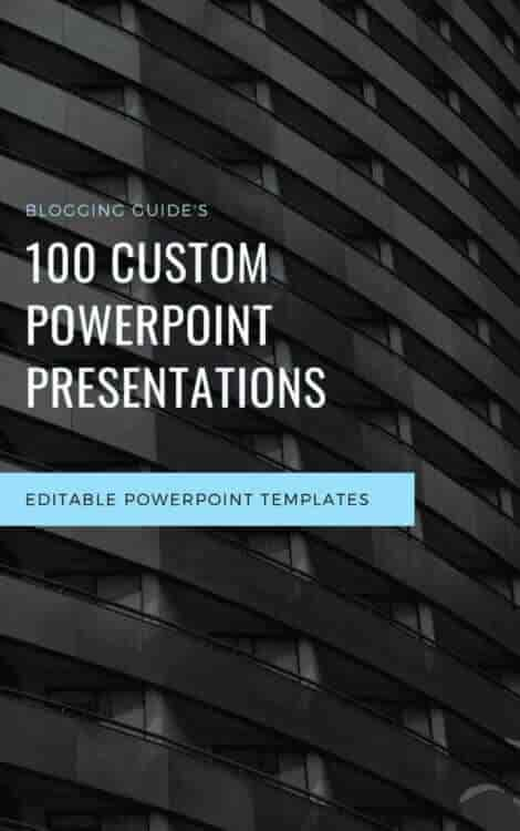 100 Custom PPT eBook Cover by Blogging Guide
