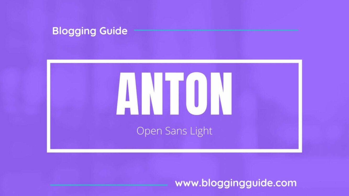 Anton Font Pairing