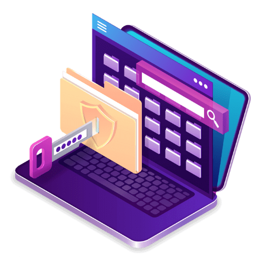 Blogging Privacy and Security Isometric by Blogging Guide