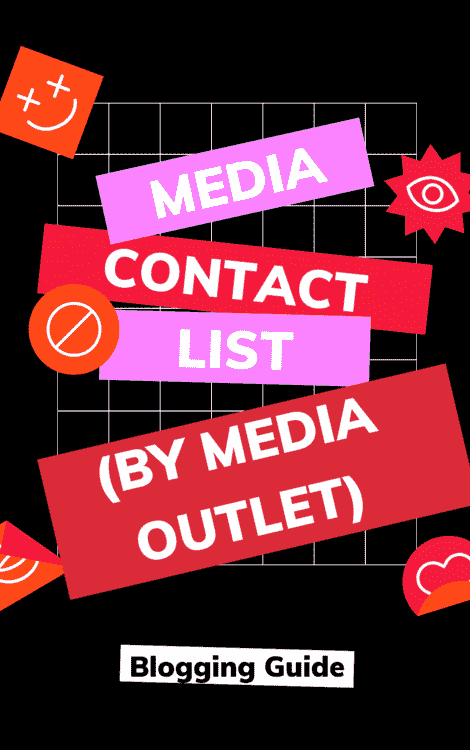 Media Contact List Outlet eBook Cover by Blogging Guide