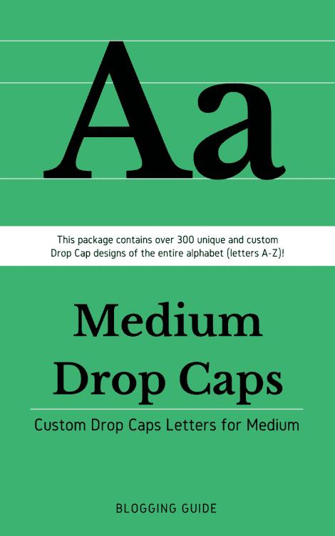 Medium Drop Caps eBook Cover by Blogging Guide