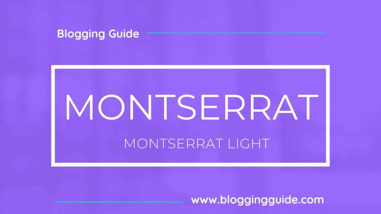 Montserrat Font Pairing