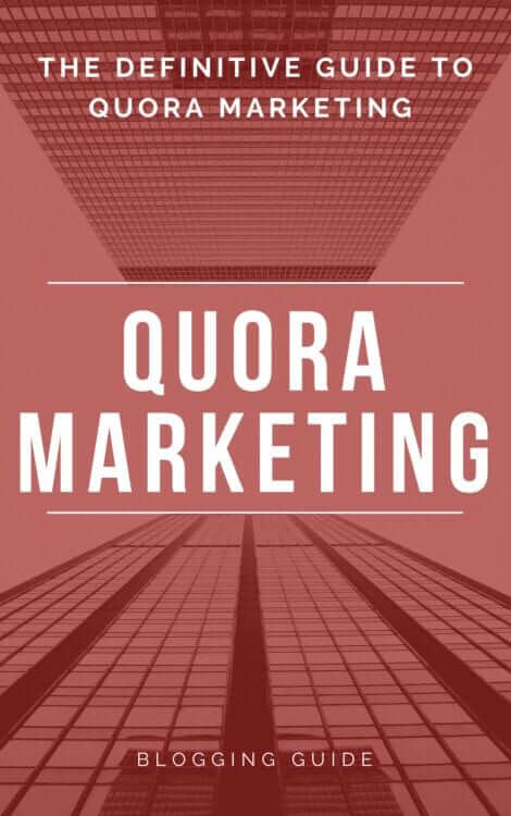 Quora eBook Cover by Blogging Guide