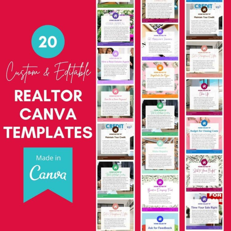 Realtor Canva Templates by Blogging Guide