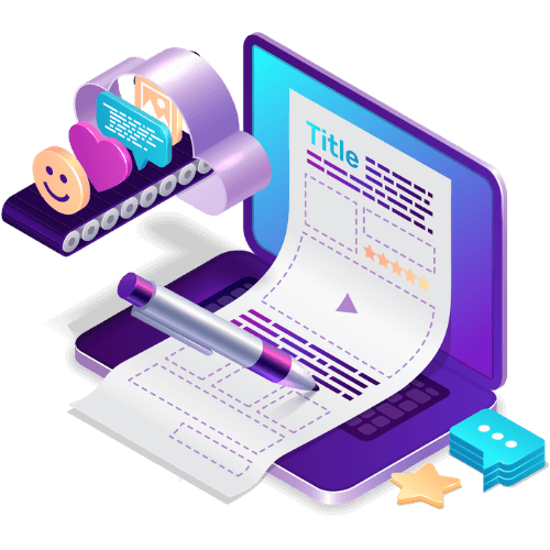 Start Your Blog Isometric by Blogging Guide