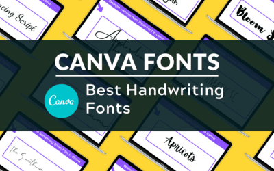 The Best Handwriting Fonts in Canva