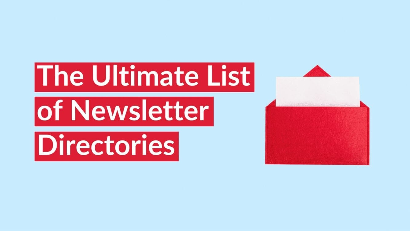 The Ultimate List of Newsletter Directories, newsletter directories, newsletter aggregators, list of places to submit your newsletter, newsletter directory, list of newsletters, best newsletters to subscribe to 2021, newsletter directories and aggregators