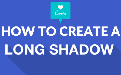 How to Create a Long Shadow Effect in Canva