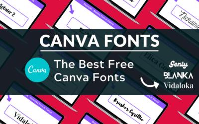 Best Free Canva Fonts
